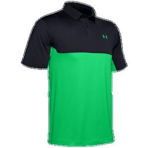 Convencional alegría Detector  Under Armour Performance 2.0 Colorblock Polo - Men's - Golf - Clothing -  Black/Vapor Green