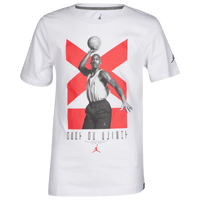 d8db52f53a4 Jordan Retro 11 Low T-Shirt - Boys' Grade School - White / Red