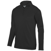 Augusta Sportswear Team Wicking Fleece Pullover - Men's - All Black / Black