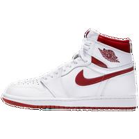 cb5eab06e70 Jordan Retro 1 High OG - Men's - White / Red