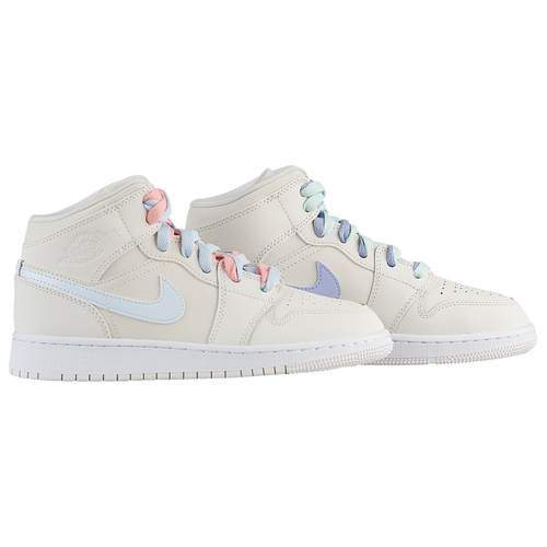 23e3eff24087 Jordan AJ 1 Mid - Girls  Grade School - Basketball - Shoes -  Phantom Igloo Blue Tint Purple Rise