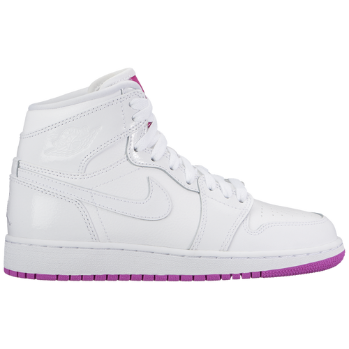 bdd16b27846 Jordan AJ 1 Mid - Girls' Grade School - Basketball - Shoes - White ...