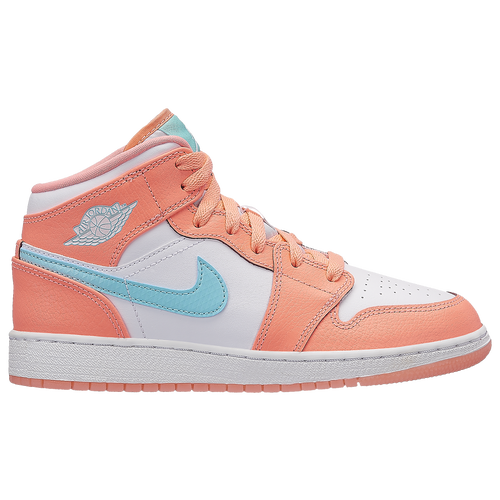 quality design 81d0d 75759 Jordan AJ 1 Mid - Girls  Grade School - Casual - Basketball -  Trooper Bleached Coral Light Orewood Brown