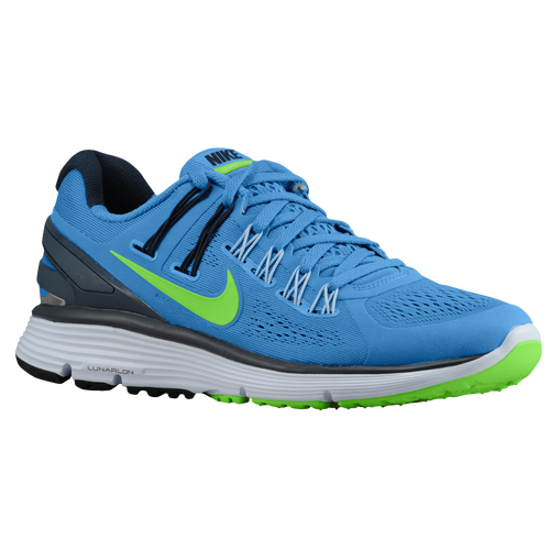 low priced 440a8 dd29c Nike LunarEclipse + 3 - Women s - Running - Shoes - Distance Blue Armory  Navy Flash Lime Silver