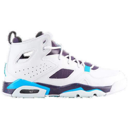 4cc2bdef874fb2 Jordan Flight Club  91 - Boys  Grade School - Casual - Basketball -  White Blue Lagoon Grand Purple Black