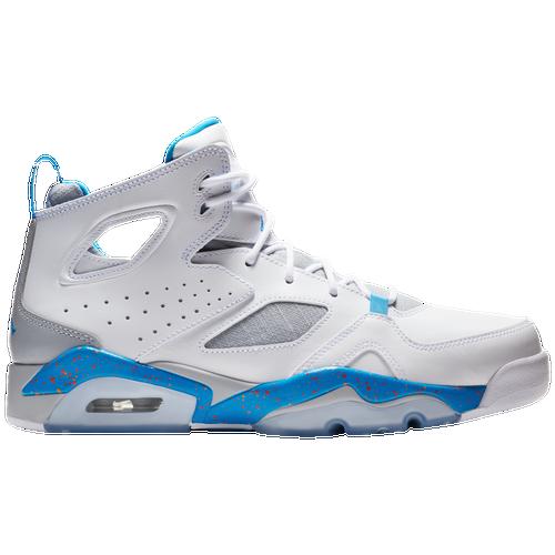 Jordan Flight Club '91 - Men's - Basketball - Shoes - White/Blue/Wolf  Grey/Team Orange
