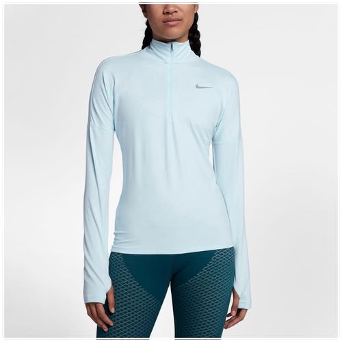 Nike Dri-FIT Element 1/2 Zip - Women's Running - Glacier Blue 55517483