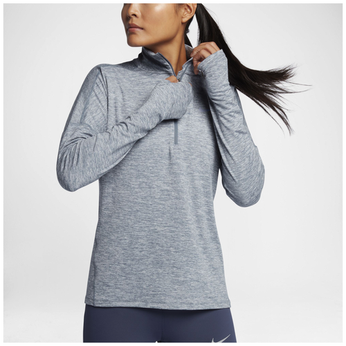 Nike Dri-FIT Element 1/2 Zip - Women's Running - Armory Blue/Heather 55517497