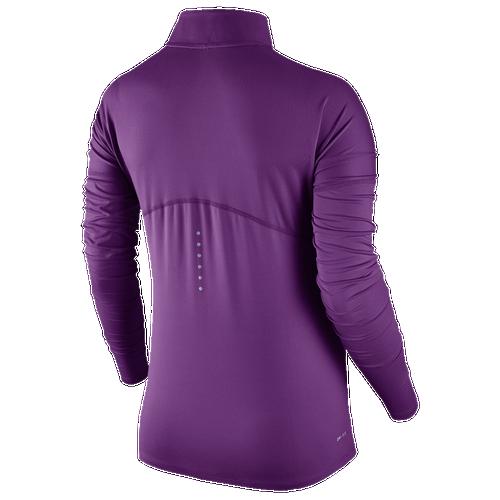 Nike Dri-FIT Element 1/2 Zip - Women's Running - Bold Berry/Heather 55517550