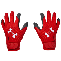 Under Armour Youth Clean-Up 20 Culture Batting Gloves - Grade School - Red