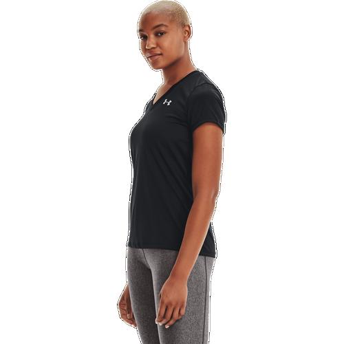 Under Armour Tech Training T-Shirt - Women's Training - Black/Metallic Silver 55839002