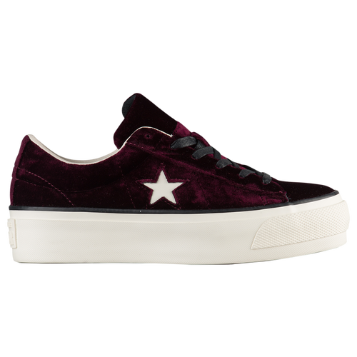5a3b52305355 Converse One Star Velvet Platform Ox - Women s - Casual - Shoes - Dark  Sangria Egret Black