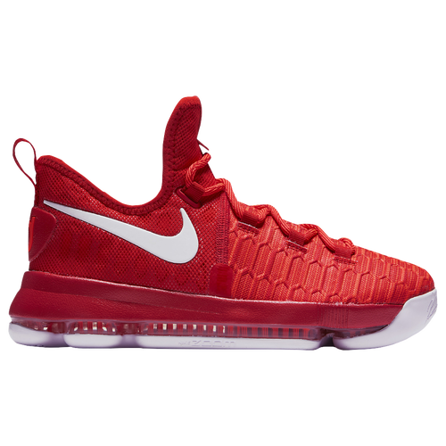Nike KD 9 - Boys' Grade School - Kevin Durant - Red / White