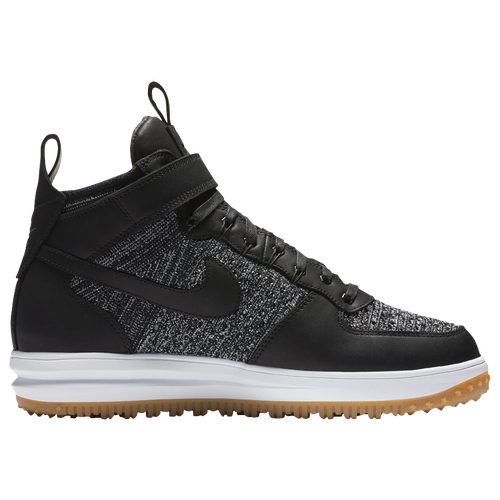 Nike Lunar Force 1 Flyknit Workboots - Men's - Casual - Shoes -  Black/White/Wolf Grey/Gum Light Brown