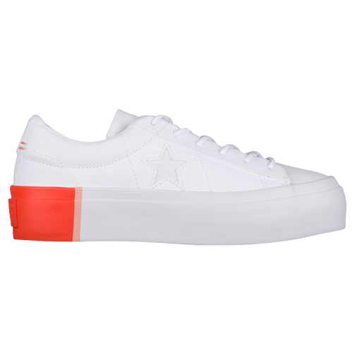 9708dbe02e6a Converse One Star Platform Ox - Women s - Casual - Shoes - White Bright  Poppy