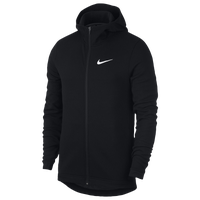 Nike Showtime F/Z Hoodie - Men's - Black / White