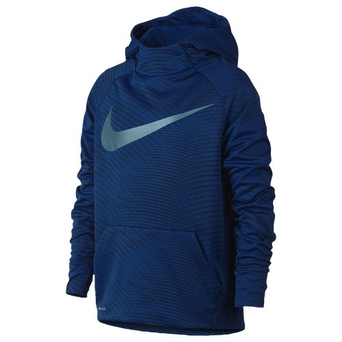nike therma fleece aop pull over hoodie boys 39 grade school training clothing blue jay. Black Bedroom Furniture Sets. Home Design Ideas