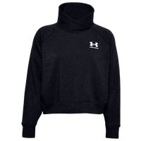 Under Armour Rival Fleece Wrap Neck Pullover - Women's - Black