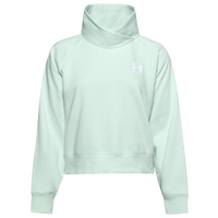 Under Armour Rival Fleece Wrap Neck Pullover - Women's - Aqua