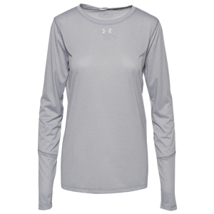 Under Armour Team Team Locker True Twist L/S T-Shirt - Women's - Steel/Metallic Silver