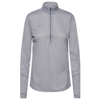 Under Armour Team Team Novelty True Twist 1/2 Zip - Women's - Grey