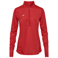Under Armour Team Team Novelty True Twist 1/2 Zip - Women's - Red