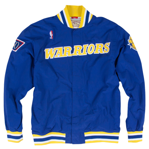 96ee3d6f201 Mitchell   Ness NBA Authentic Warm-Up Jacket - Men s - Clothing - Golden  State Warriors - Royal Yellow
