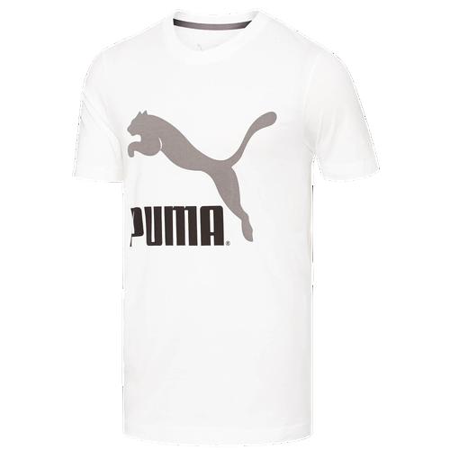 PUMA Archive Logo T-Shirt - Men's Casual - White/Steel Grey 56997403
