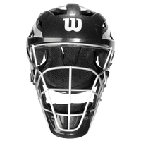 Wilson Pro Stock Catcher's Helmet - Adult - Black / Silver