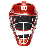 Wilson Pro Stock Catcher's Helmet - Adult - Red / Silver