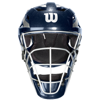 Wilson Pro Stock Catcher's Helmet - Adult - Navy / Silver