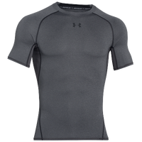 Under Armour HeatGear Armour Compression S/S Football T-Shirt - Men's - Grey / Black
