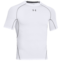 Under Armour HeatGear Armour Compression S/S Shirt - Men's - White / Grey