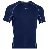 Under Armour HeatGear Armour Compression S/S Shirt - Men's - Navy / Grey