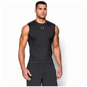 Under Armour HeatGear Armour Compression S/L Shirt - Men's - Black/Steel