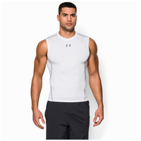 Under Armour HeatGear Armour Compression S/L Shirt - Men's - White / Grey