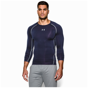 Under Armour HeatGear Armour Comp L/S T-Shirt - Men's - Midnight Navy/Steel