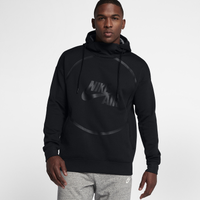 37ec3bbdea44 Nike Air Pullover Fleece Hoodie - Men s - All Black   Black