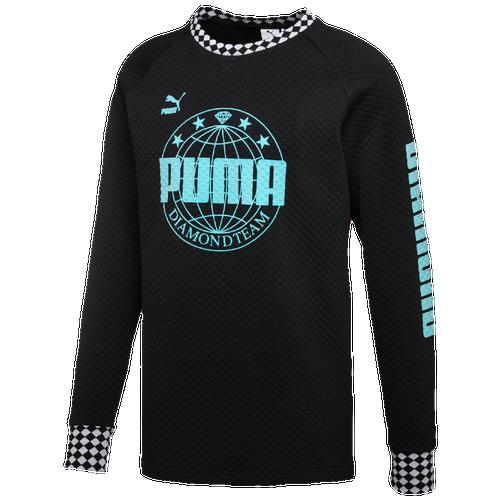 PUMA Diamond Crew - Men's Casual - Puma Black