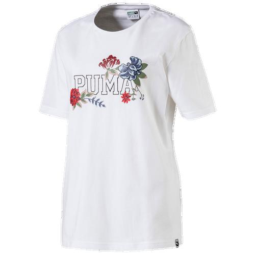 PUMA Graphic T-Shirt - Women's Casual - White 57565683