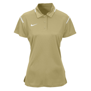 Nike Team Gameday Polo - Women's - Team Vegas Gold/White/White