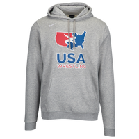 Nike USA Wrestling Team Club Training Hoodie - Men's - Grey