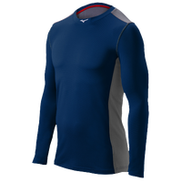 Mizuno Elite Stretch Long Sleeve Top - Men's - Navy / Grey