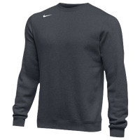 Nike Team Club Crew Fleece - Men's - Grey / Grey