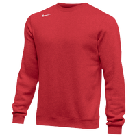 Nike Team Club Crew Fleece - Men's - Red / Red