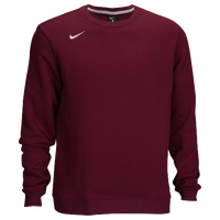 Nike Team Club Crew Fleece - Men's - Maroon / Maroon