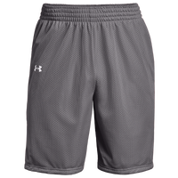 Under Armour Team Triple Double Shorts - Boys' Grade School - Grey