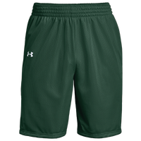 Under Armour Team Triple Double Shorts - Boys' Grade School - Dark Green