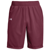 Under Armour Team Triple Double Shorts - Boys' Grade School - Maroon