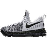 Nike KD 9 - Boys\u0027 Grade School - Kevin Durant - White / Black